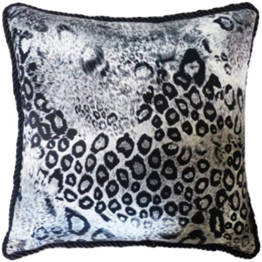 """Patsy"" Leopard Silk Pillow"