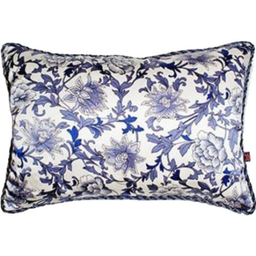 """Reina"" Porcelain Silk Pillow"