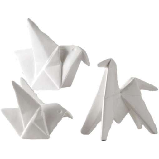 Oragami Porcelain, Set Of 3