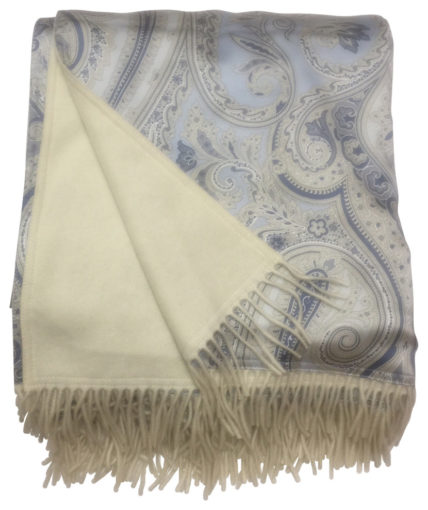Reversible Silk And Cashmere Throw
