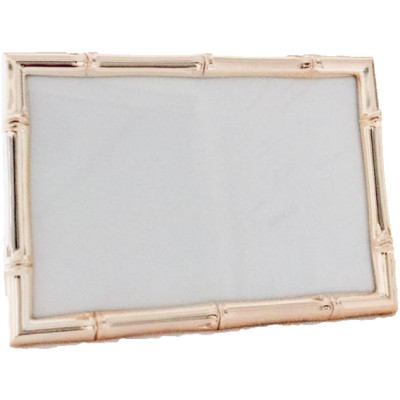 Rose Gold Bamboo Design Photo Frame, 4x6