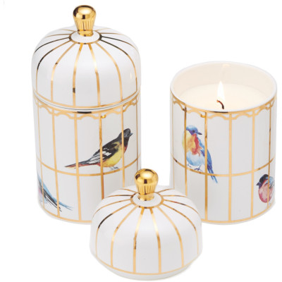 Lidded Gilded Cage Candle
