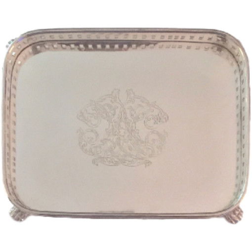 Engraved Gallery Tray, Rectangular