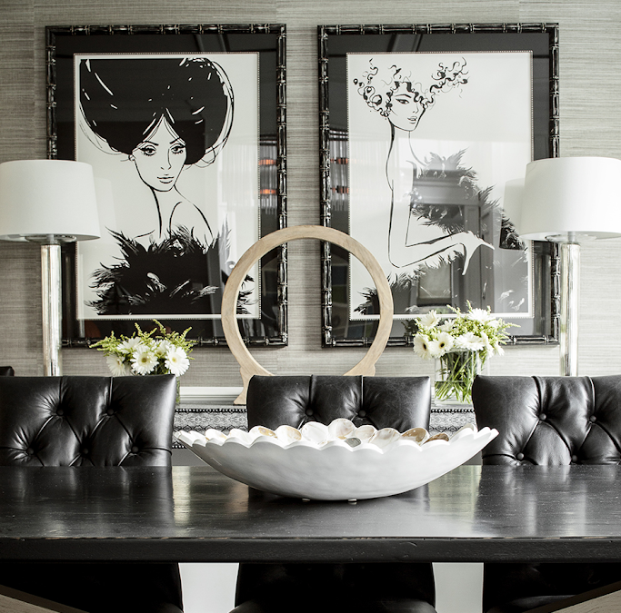 WHEN IN DOUBT…add black! Whether it be an accent wall, furnishings or accessories.