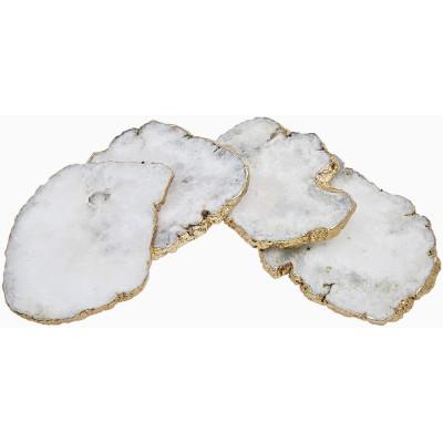 White Agate Coasters