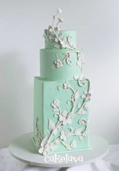 Robin's Egg blue fancy cakes